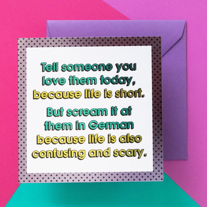 Funny Card | Life Is Short - Bettie Confetti