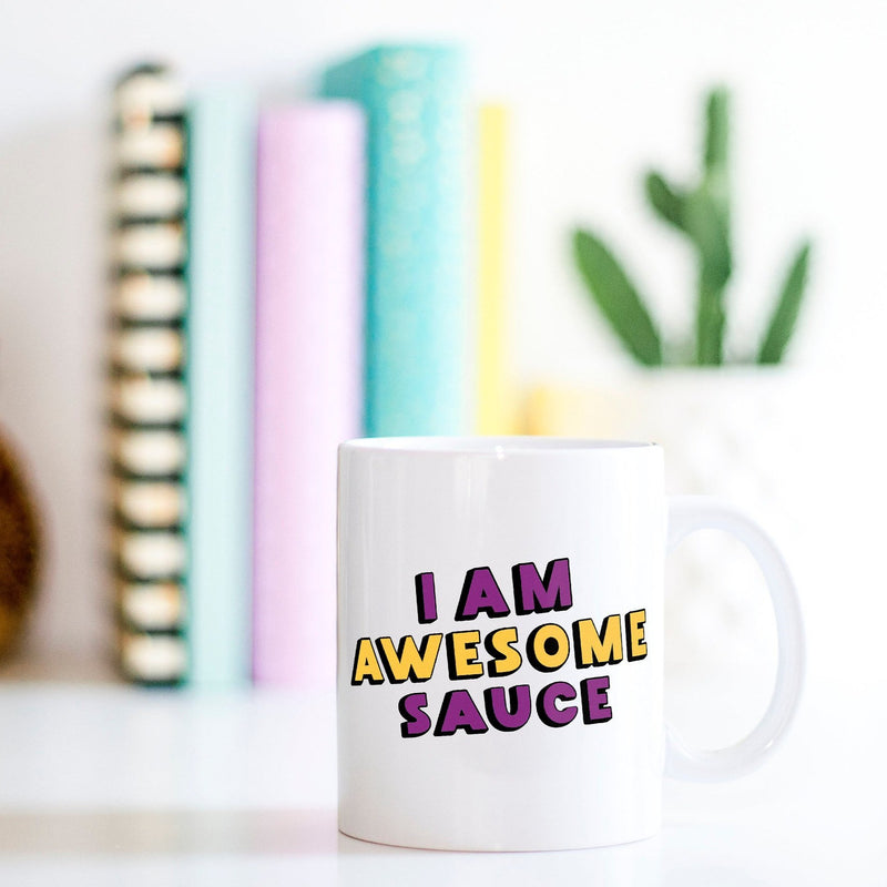 Funny Parks And Recreation Mug | I Am Awesome Sauce - Bettie Confetti