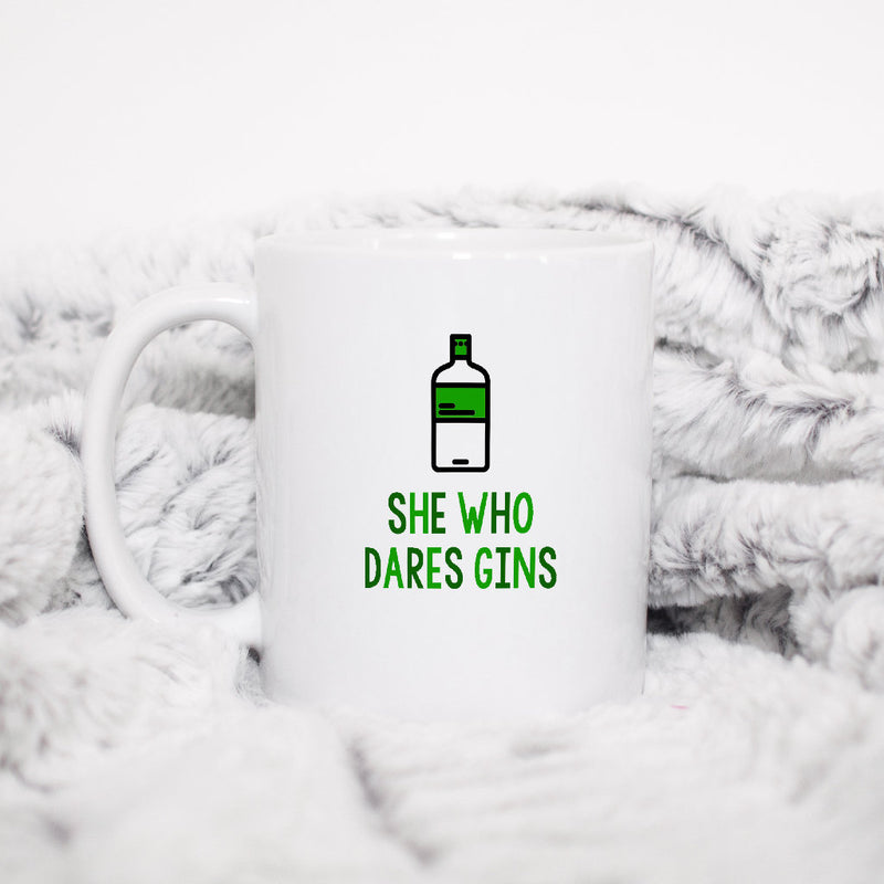 Cute Gin Mug | She Who Dares Gins - Bettie Confetti
