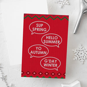 Funny Christmas Card | Seasons Greetings-Bettie Confetti