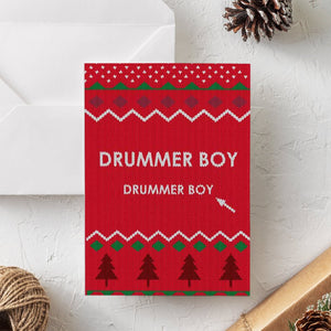 Funny Christmas Card | Little Drummer Boy - Bettie Confetti