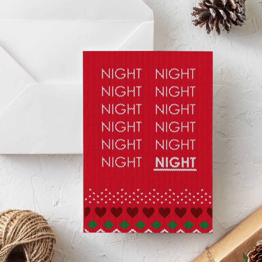 Funny Christmas Card | Twelfth Night - Bettie Confetti