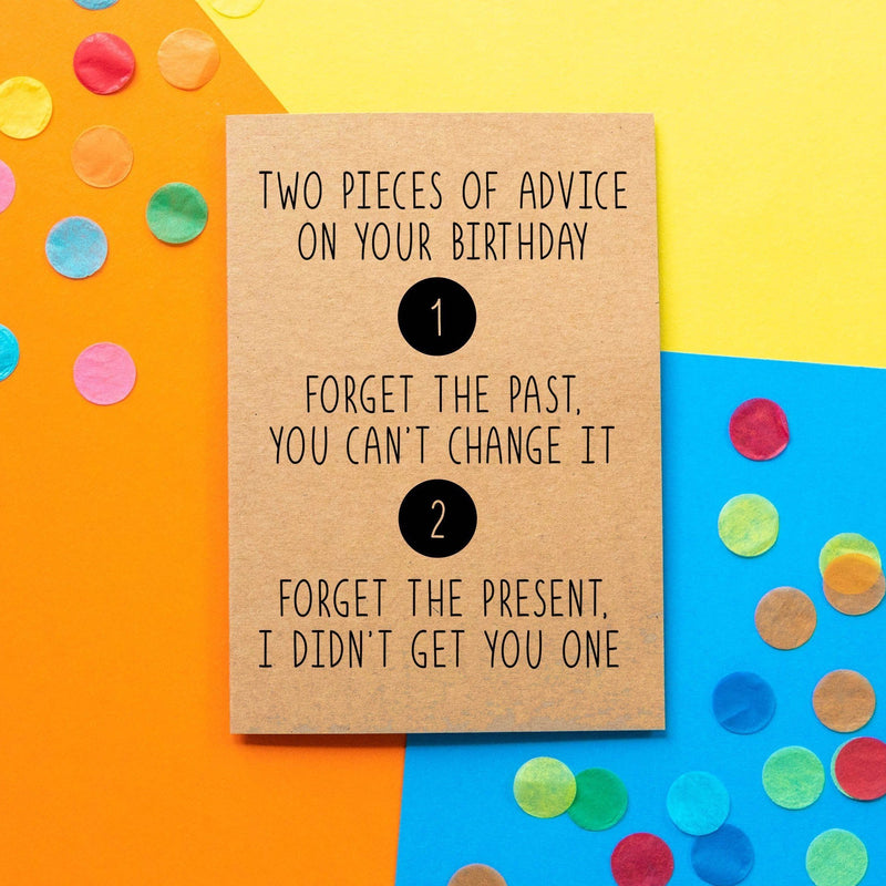 Funny Birthday Card | Birthday Advice - Bettie Confetti