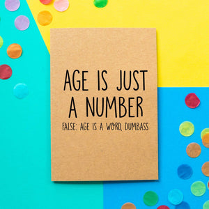 Funny Birthday Card | Age Is Just A Number - Bettie Confetti