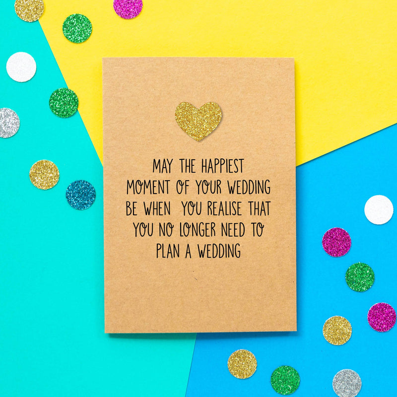 Funny Wedding Card | Happiest Wedding Moment-Bettie Confetti