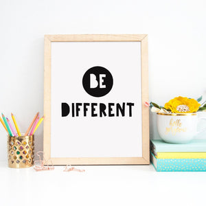Motivational Print | Be Different - Bettie Confetti