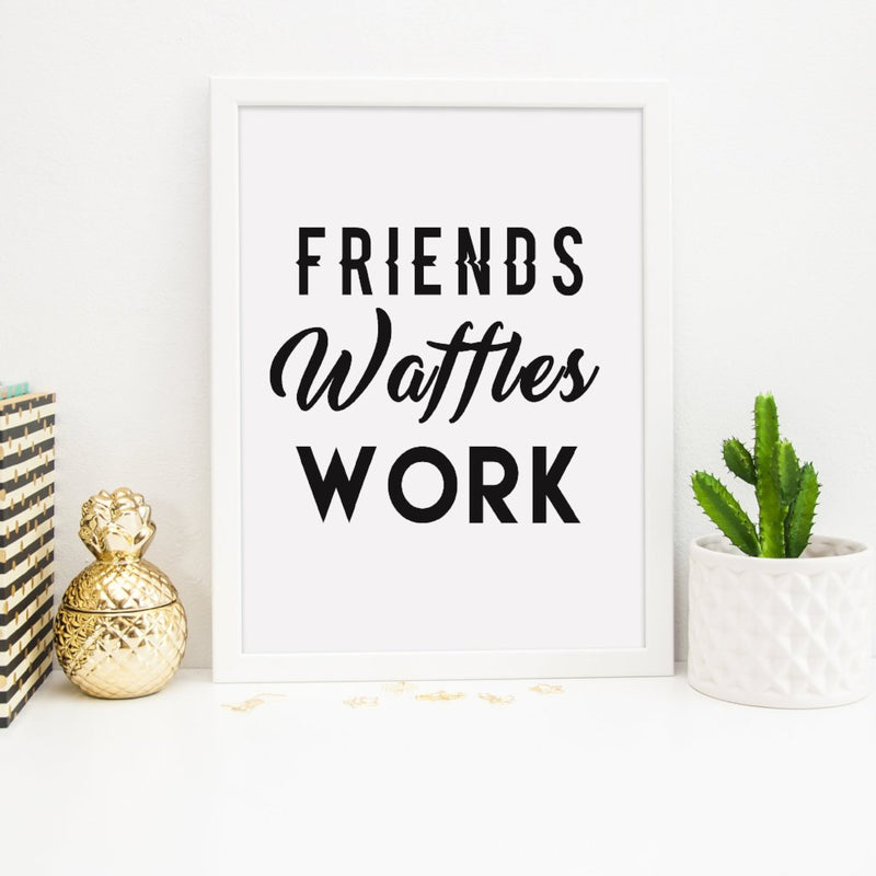 Parks and Recreation Print | Friend Waffles Work - Bettie Confetti