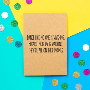 Funny Birthday Card | All On Their Phones - Bettie Confetti