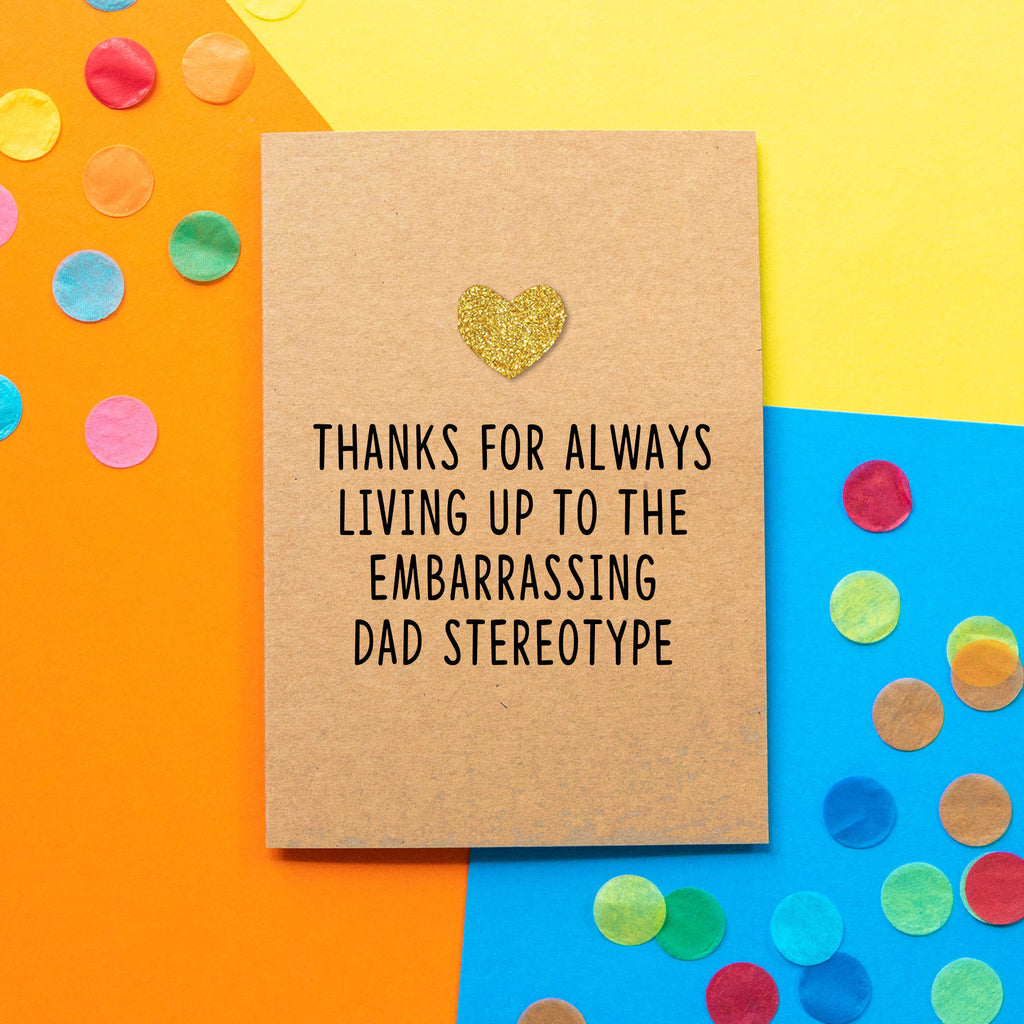 Funny Dad Birthday Card | Embarrassing Dad-Bettie Confetti