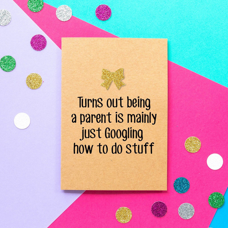 Funny New Baby Card | Parenting Is Googling-Bettie Confetti