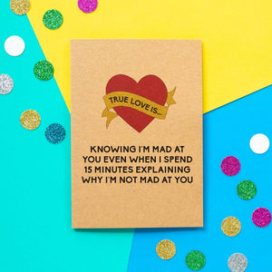 Funny Valentine's Day Card | Not Mad At You-Bettie Confetti