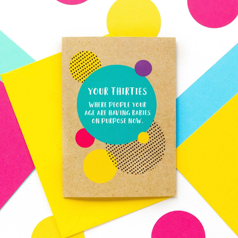 Funny 30th Birthday Card: Babies On Purpose - Bettie Confetti