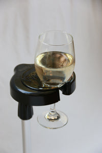 HoldZie Beverage Holder With Two WineZie Adapters
