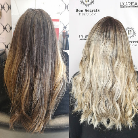Ben Secrets Balayage Before After