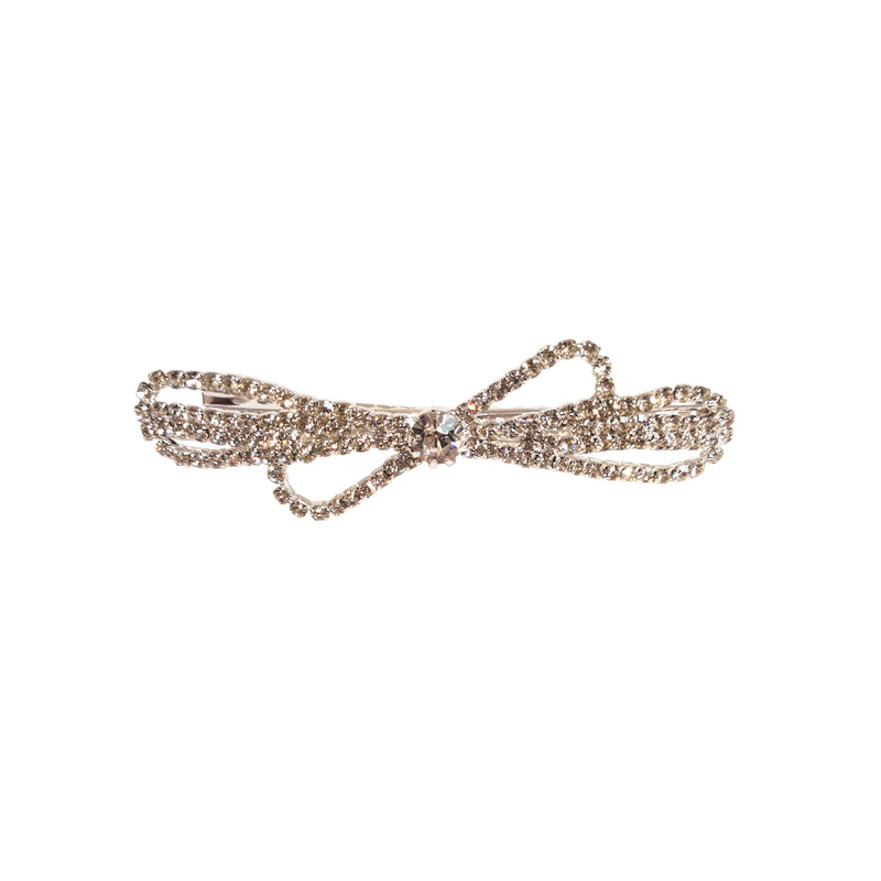 Single Bow Gem Hair Jewelry Clip - Ben Secrets