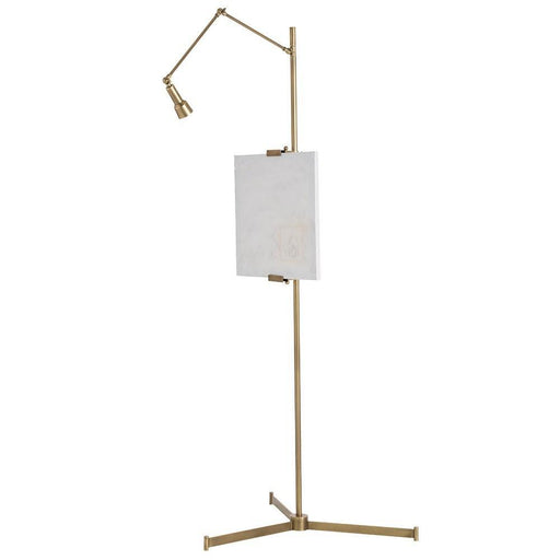 Arteriors Home Aja Easel Floor Lamp in Brass