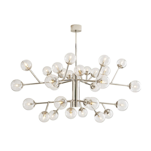 Arteriors Home Dallas Two Tiered Chandelier - Polished Nickel