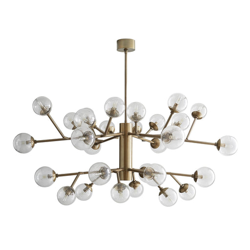 Arteriors Home Dallas Two Tiered Chandelier - Vintage Brass