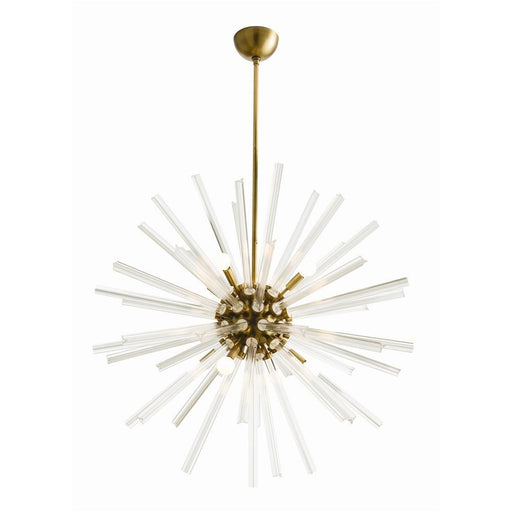 Arteriors Home Hanley Large Chandelier - Antique Brass