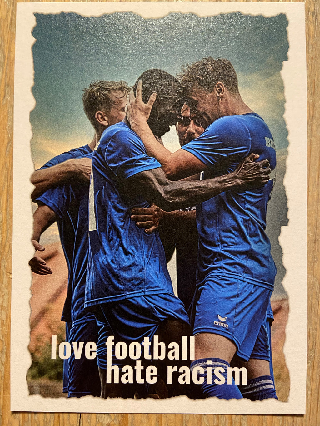 "BSV-Postkarte ""Love football, hate racism"" (Edition #4)"