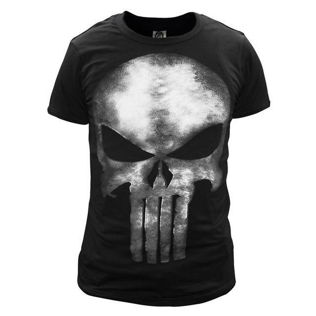 56221eee3aee The Punisher Skull Ghost T-Shirt Men Black Summer Short Sleeve T Shirts Tops  Printing