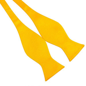 Yellow Pure Silk Bow Tie