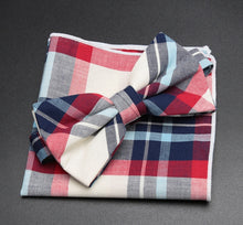 Load image into Gallery viewer, Linen Plaid Bow Ties