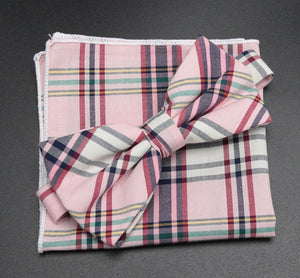 Linen Plaid Bow Ties