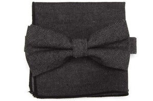 Black Denim Bow Tie