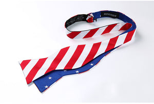 Stars/Stripes Reversible Bow Tie & Handkerchief Set