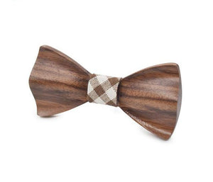 Carved Handmade Wooden Bow Ties
