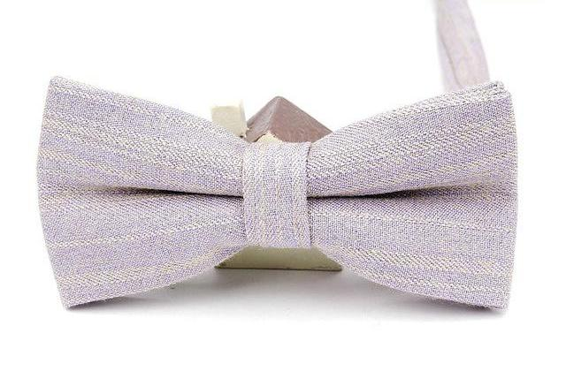 Lilac Linen Bow Tie
