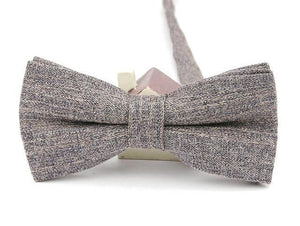 Heather Grey Linen Bow Tie