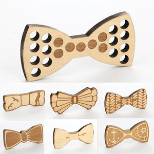 Etched Wooden Bow Ties