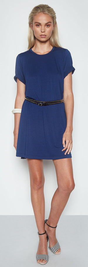 Alberto T-Shirt Dress in Ink Blue