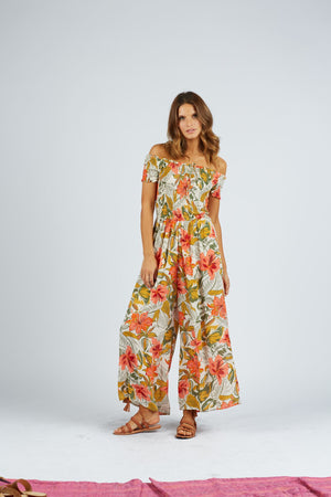 Nohea Jumpsuit in Tropical Indian