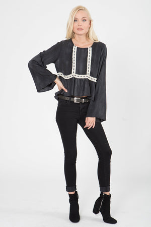 Sundial Swing Top in Washed Black