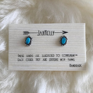 NAVAJO TURQUOISE OVAL STUDS