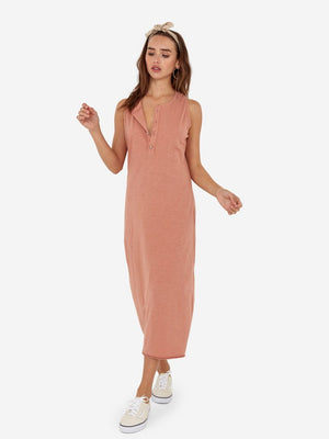 Avery Midi Dress in Terracotta