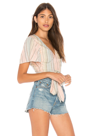 Wilson Tie Top in Nevada Stripe Flux