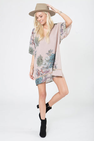 Pocket Tunic Dress in Plants of Paradise