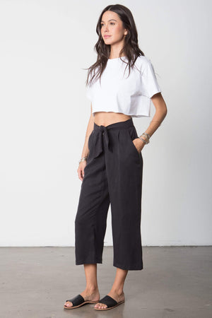 The Box Tie Pant in Black