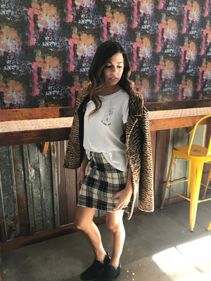 Northwest Mini Skirt in Fungazi Plaid