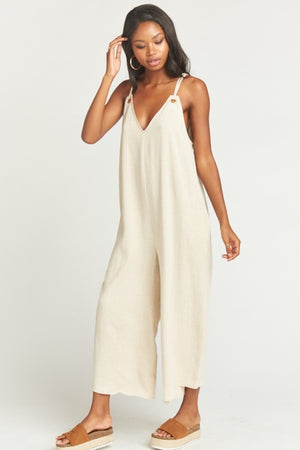 Jansen Jumpsuit in Cream Linen