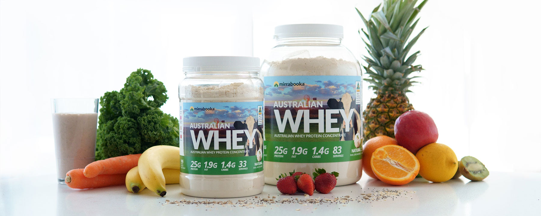 Natural Protein - The best clean ingredient whey protein by Mirrabooka Protein