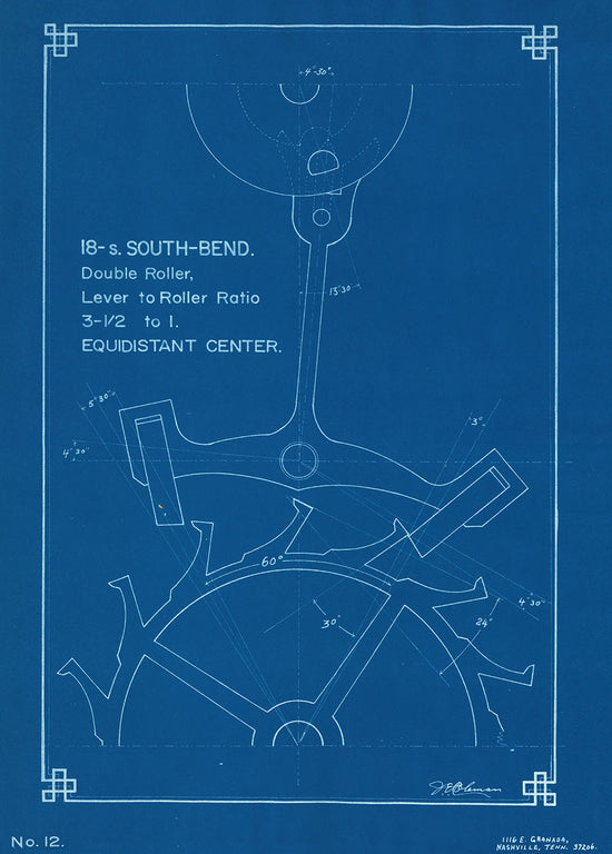 Posters american watchmakers clockmakers institute vintage blueprint south bend escapement by je coleman malvernweather Images