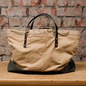 Canvas Tan Tote Large (RE-S001)