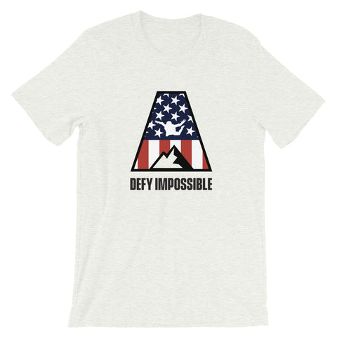 Defy Impossible Flag T-Shirt - Ash