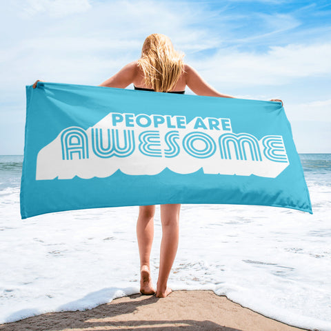 People Are Awesome Retro Towel