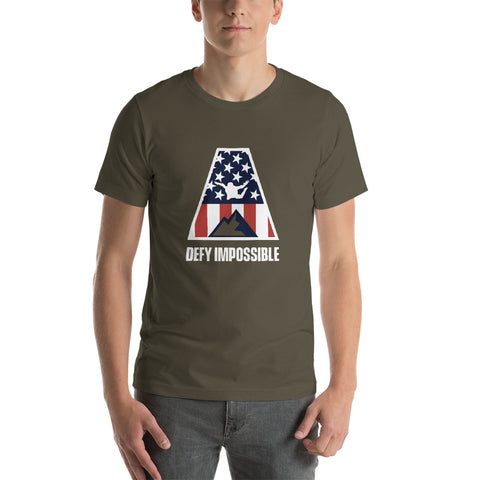 Defy Impossible Flag T-Shirt - Army